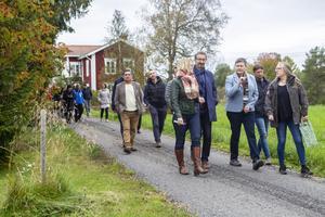 Deltagarna från de sex EU-länderna besökte bland annat Trönö för att se och lära sig av den svenska landsbygden.