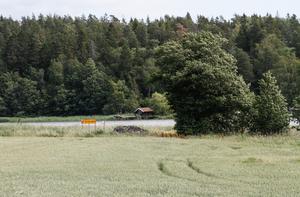 Strandnära. Eknäs gårds ägor ligger nära en havsvik.