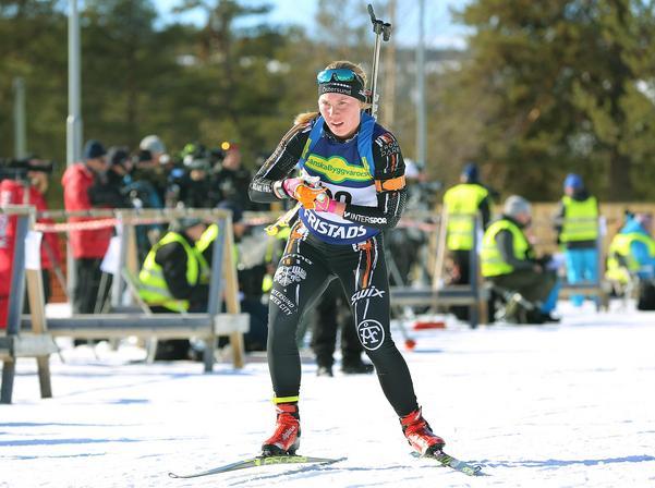 Felicia Lindqvist, fostrad i Hede, tog dubbla medaljer i damklassen.