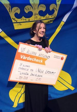 Linnea Danielsson från Leksands gymnasium blev utsedd till årets unga ledare.(foto: Sofia Gunnarsson)