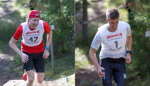 Jonas Eriksson vann Hackmora Bergslopp efter att ha gått ifrån Calle Halfvarsson på slutet.