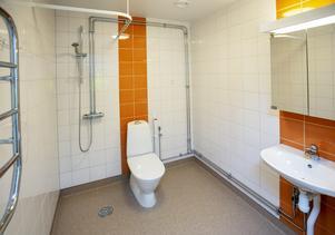 Lägenheterna är ljusa och fräscha och med rymliga badrum.