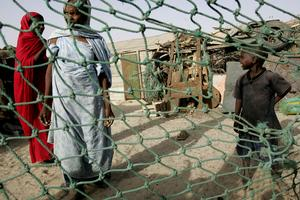 Bild från Mauretanien, som gjorde det straffbart med fängelse att äga slavar först 2007. Foto: AP/Schalk van Zuydam