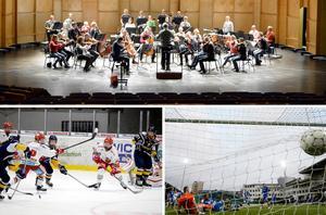 Varför kan inte kulturen få en riktig konsertsal med bra akustik, precis som att idrotten kan få anpassade arenor, undrar Walter Rönmark. Bild: Susanne Holmlund / Mårten Englin / Thérese Ny/TT