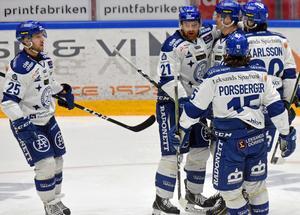 Linus Persson, Mattias Ritola, Martin Karlsson, Mattias Karlsson och Johan Porsberger.