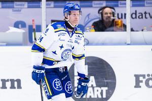 Philip Samuelsson drog på sig ett matchstraff. Foto: Andreas Sandström (Bildbyrån).