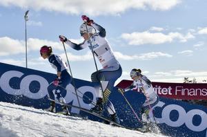 Sprintfinal i vintras i Falun med Maja Dahlqvist.