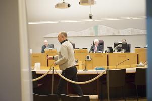 Anders Jansson i Sundsvalls tingsrätt under fredagen.