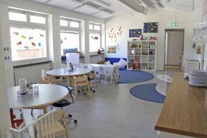 Helt nyfixade lokaler möter barnen och personalen på Skogsudden.