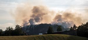 Skogsbranden på Burberget i Ljustorp.