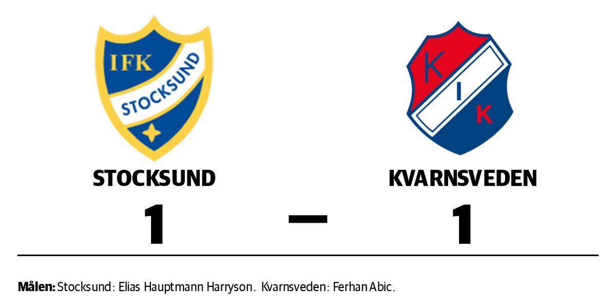 Stocksund och Kvarnsveden delade på poängen efter 1–1