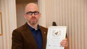 Ari Kolbeinsson, lektor i integrerad produktutveckling, tilldelas i år Skaraborgs Akademis pris till en avhandling skriven av en doktorand vid Högskolan i Skövde. Foto: Högskolan i Skövde