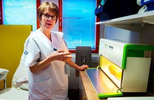 Karin Nordin tycker att det är ett smidigt sätt att arbeta på.