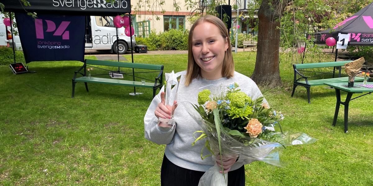 """Cornelia från Huskvarna vinnare i P4 Nästa: """"Jag är stolt över låten"""""""