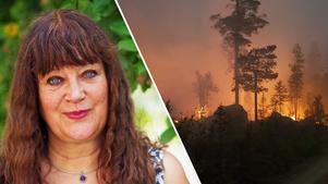 Karin Perers, styrelseordförande på Mellanskog och från Avesta, berättar att det var smärtsamt att se förödelsen bakom avspärrningarna i Hälsingland och Härjedalen.