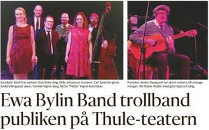 Ewa Bylin Band bjöd på någonting nytt som trollband publiken på Thuleteatern.