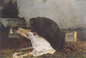 I sin målning