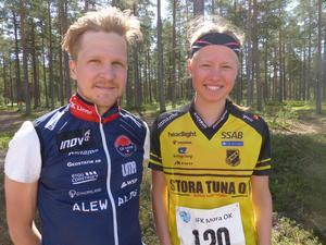 Rassmus Andersson och Tilda Östberg vann på söndagen. Foto: IFK Mora