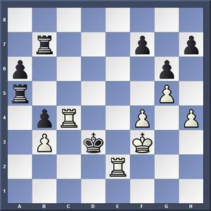 Lösning: 1.Tcc2 Td5 2.Ted2.