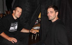 Festivalgeneralerna Andrija Jovanovic och Jonatan Petré Brixel .