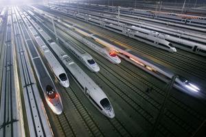Höghastighetståg i Kina. Arkivbild: TT