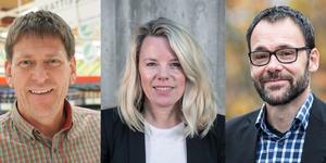 Kent Kristoffersson (Ica Maxi), Kristina Grahn Persson (Diös fastigheter) och Kenneth Karlsson (Östersundshem).
