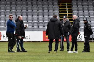 På tisdagseftermiddagen inspekterades Stadsparksvallen av representanter från Jönköpings Södra, Jönköpings kommun och Svenska Fotbollförbundet.