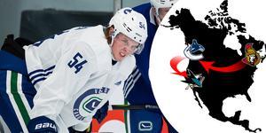 Jonathan Dahlén väntar fortfarande på chansen i NHL, nu i nya klubben San Jose Sharks där Dahlén inleder med att spela med farmarlaget Barracuda.