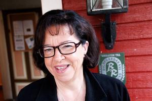 Elsie Bäcklund Sandberg nationaldagstalar i Strömsbruk.