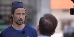 Linus Hallenius har skadeproblem och var osäker till spel mot AIK. Bild: Andreas Lidén