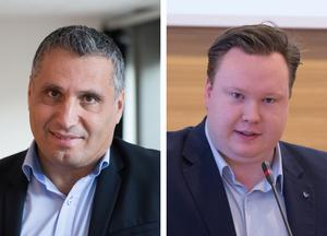 Liberalerna Metin Hawsho och Victor Zetterman. Foto: Monika Nilsson Lysell
