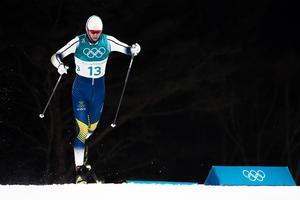 Oskar Svensson blev femma i sprintfinalen på OS i Sydkorea. Bild: Carl Sandin/Bildbyrån