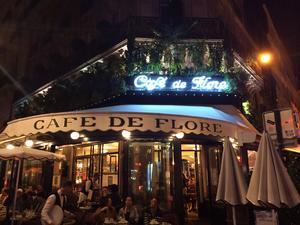 Cafè de Flore i Saint German - med rejält tilltagna priser.