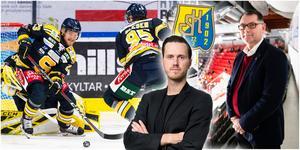 Bobbo Petersson är en av flera backar som SSK skrivit långa kontrakt med. En strategi som Mats Pernhem tillämpade och som kan bli kostsam, skriver LT-sportens Jacob Sjölin. Foton från Bildbyrån. Montage: Mittmedia.