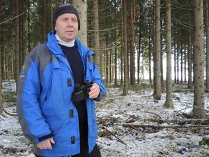 Bert Eriksson är naturbevakare på Länsstyrelsen Dalarna. Han kommer att rycka in så fort de får syn på vargen igen. Foto: Kristian Åkergren / Arkiv
