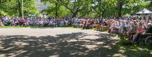 Många valde att fira nationaldagen på Gammelgården i Köping.