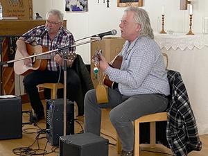 För underhållningen svarade Mats Svensson och Georg Eriksson. Foto: Solveig Haugen.