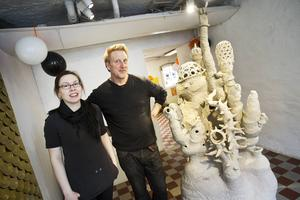Linda Svedberg och Björn Dahlström öppnar båda sina ateljéer.