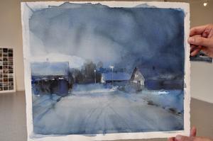 Magnus Peterssons konst kan uppfattas som lite dyster. Han säger själv att han kan vara lite melankolisk.