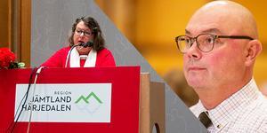 Eva Hellstrand (C) är sjukskriven och kommer inte att kunna ta sin plats som regionstyrelsens ordförande. Bildmontage: Petter Hansson Frank/Ingmar Reslegård