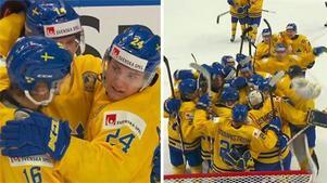 Sverige är klara för JVM-final efter 4–2 mot USA. Bild: Cmore.