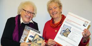 Hervor Sjödin och Ancy Berg i Laura Fitinghoffsällskapet  Sollefteå har utlyst en skrivartävling.
