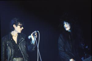 Sisters of Mercy, Andrew Eldritch och Patricia Morrison, 1988. Foto:  Andre Csillag/REX