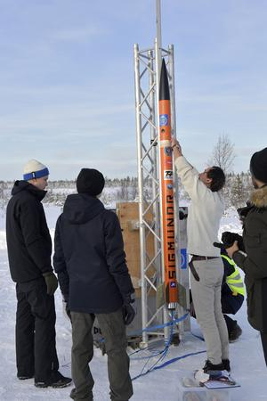 KTH-gruppen gör raketen redo för star.