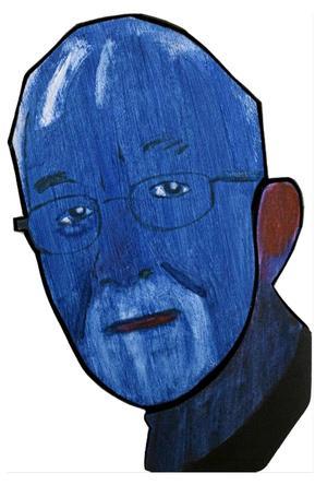 Mikael Fares porträtt av den store Västeråsförfattaren Lars Gustafsson.