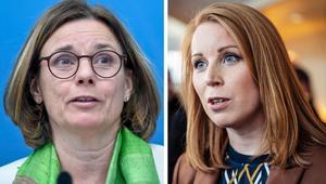 Miljö- och klimatminister Isabella Lövin (MP) har budgetförhandlat med Centerpartiets Annie Lööf. Det har varit bra för flera av de gröna förslag som finns i vårändringsbudgeten. Foto: Stina Stjernkvist/TT och Simon Rehnström/TT