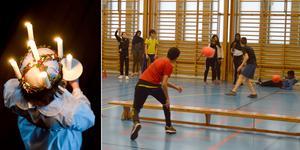 Spökboll med influenser av paintball. Det står på agendan inför Luciacupen på Kvarnängshallen.