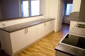 Köket i en av trerumslägenheterna.
