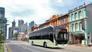 Foto: Volvo. Bussar av den här typen ska laddas med hjälp av teknik från ABB.