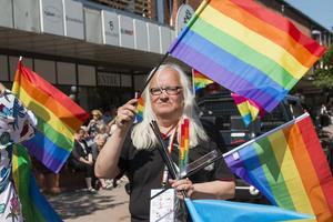 För Maria Hansson är prideparaden höjdpunkten på Söderhamn Pride.